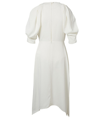 KHAITE Cynthia Crepe Dress Women's White