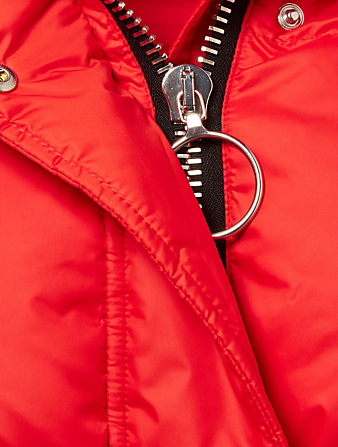 IENKI IENKI Michlin Belted Down Puffer Jacket Designers Red