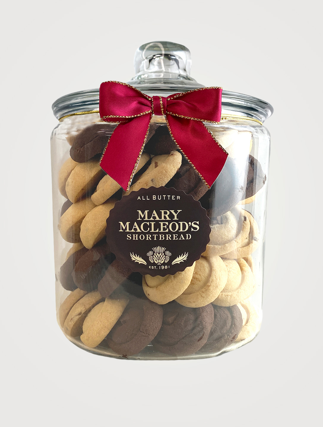 MARY MACLEOD Cookie Jar of Assorted Shortbread Gifts