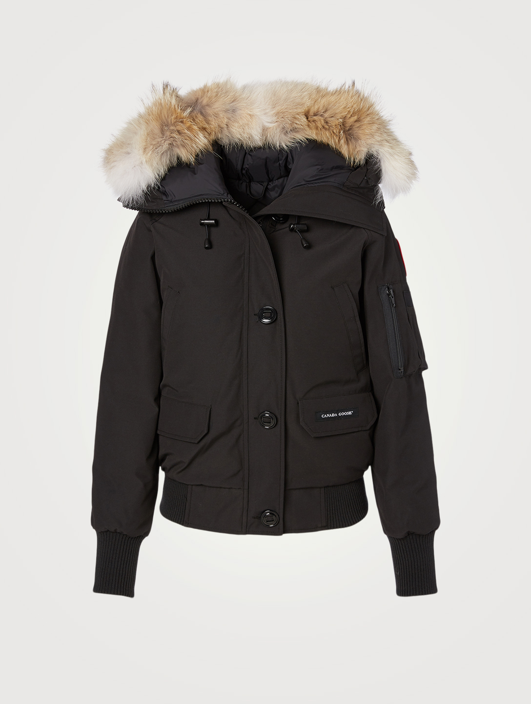 4bc97a2d0fd34 CANADA GOOSE Chilliwack Down Bomber Jacket With Fur - Fusion Fit Designers  Black ...