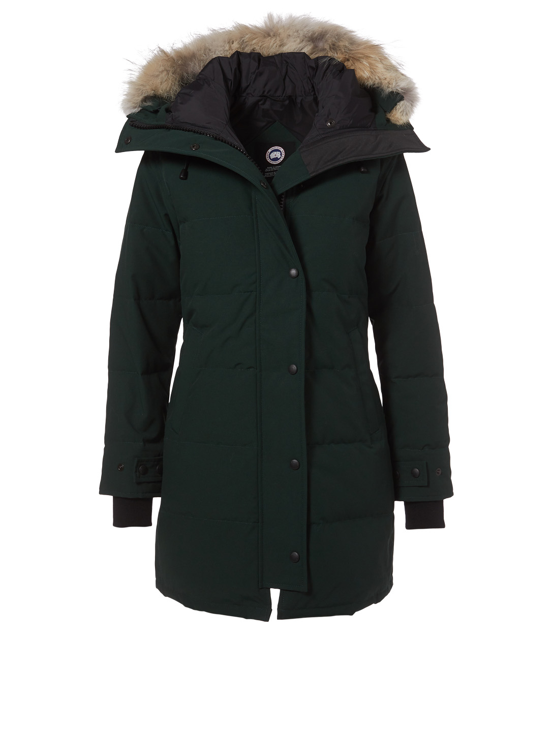 CANADA GOOSE Shelburne Down Parka With Fur - Fusion Fit Womens Green ... 5626b0eea1