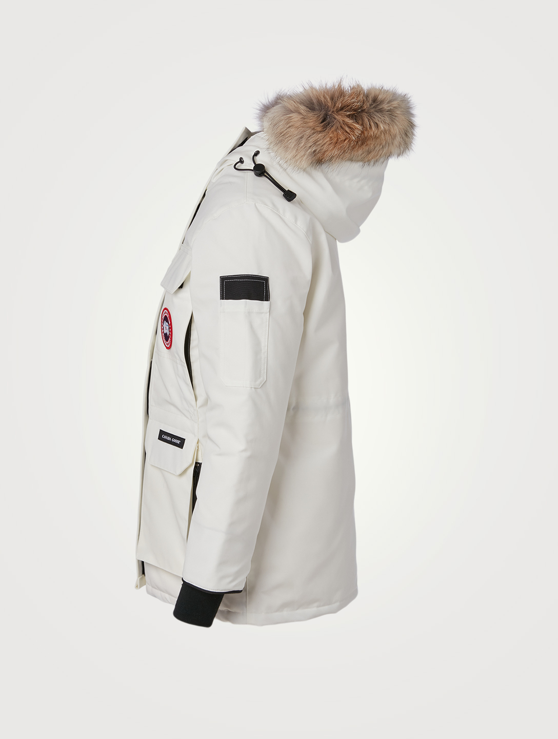CANADA GOOSE Expedition Down Parka With Fur - Fusion Fit Women's White