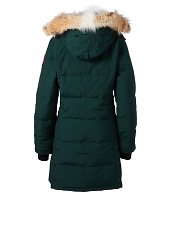 CANADA GOOSE Shelburne Down Parka With Fur Womens Green