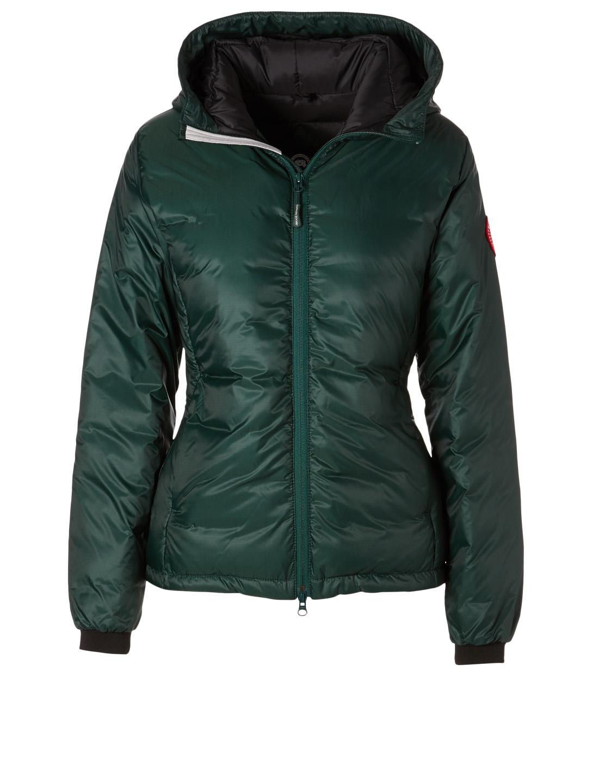CANADA GOOSE Camp Hoody Down Puffer Jacket Womens Green ... 7c3b78dbe5
