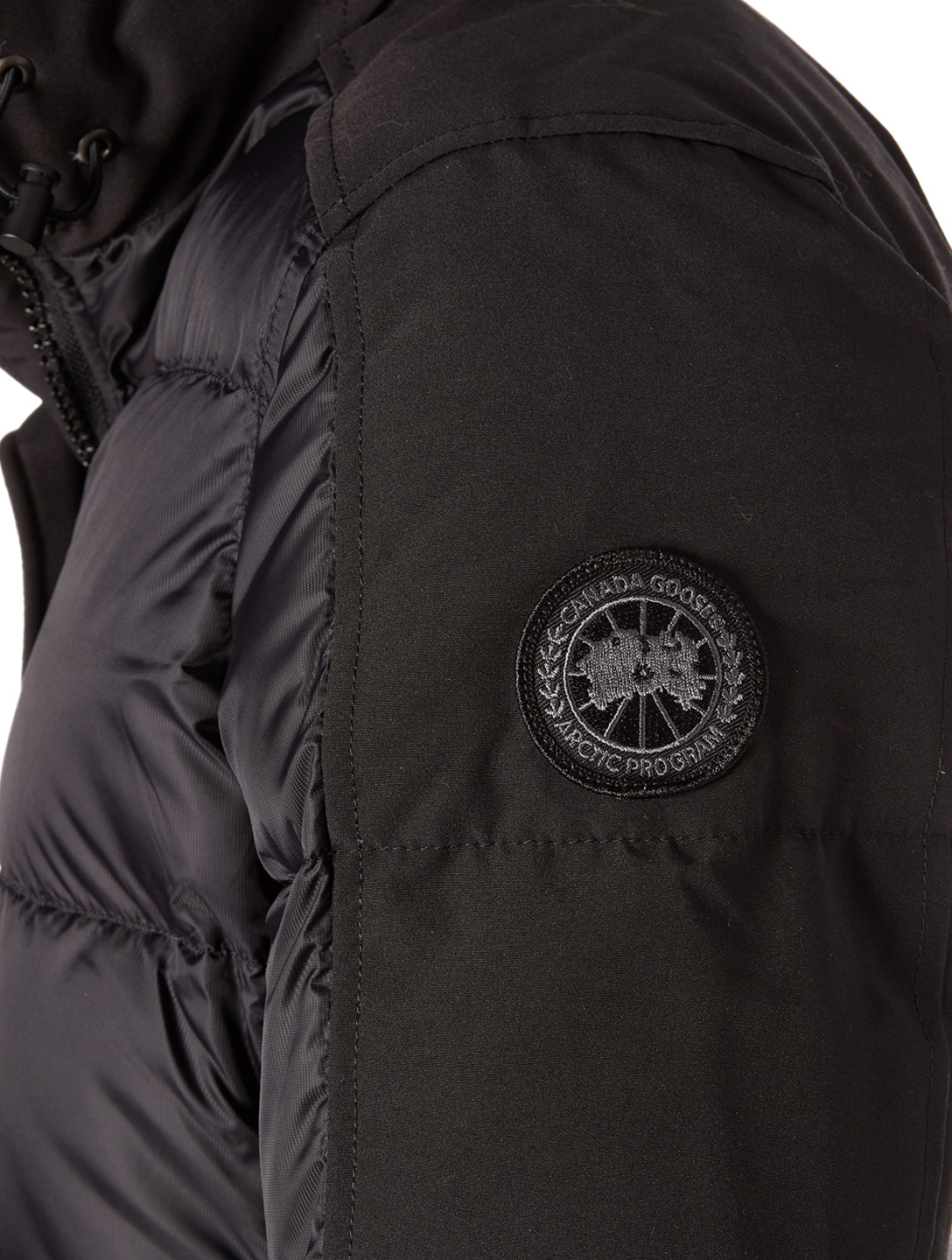 CANADA GOOSE Rowley Black Label Down Parka With Fur Womens Black