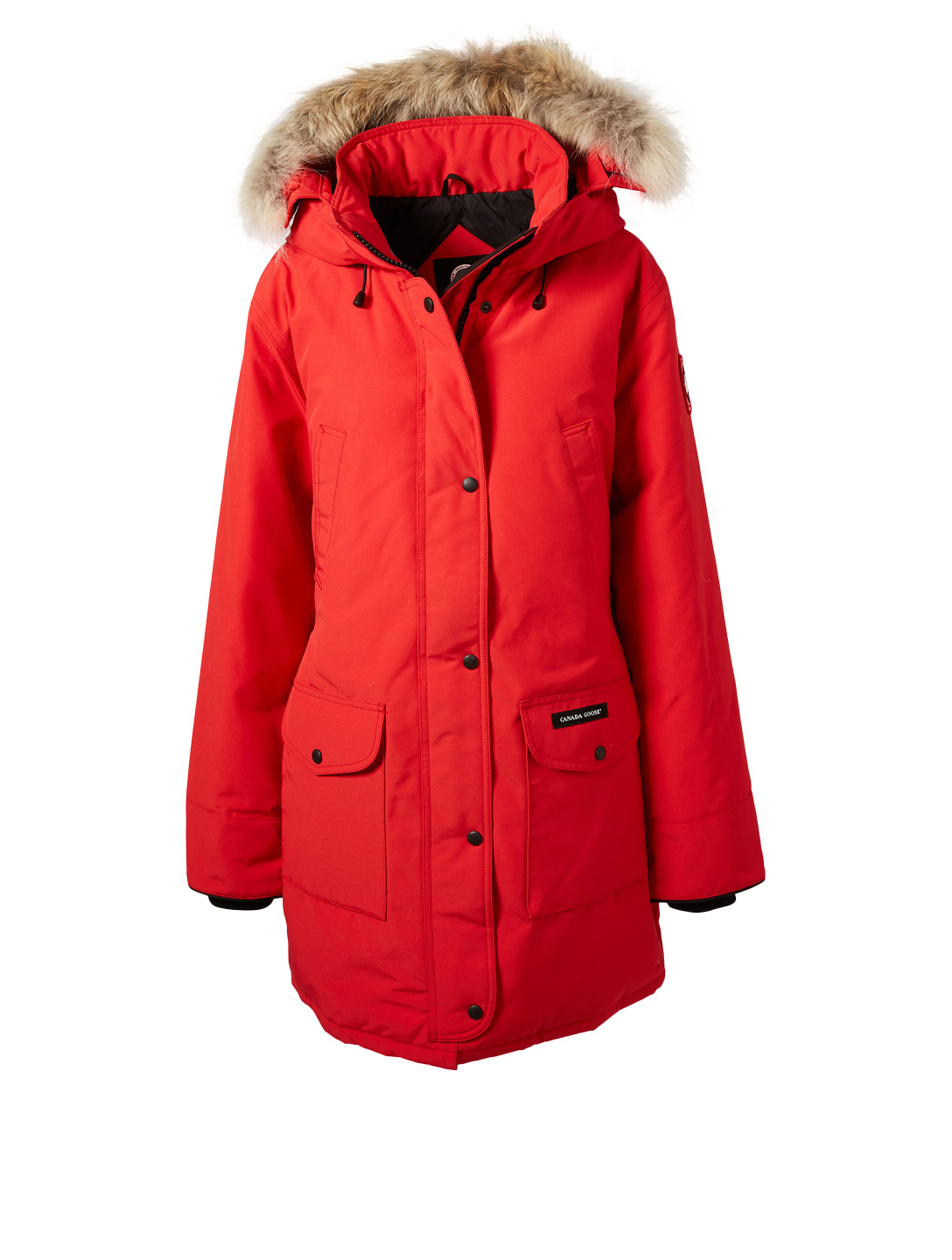 CANADA GOOSE Trillium Down Parka With Fur Womens Red