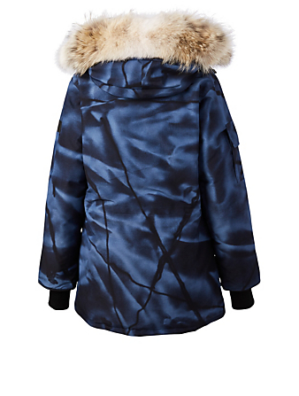 CANADA GOOSE Expedition Down Parka With Fur Womens Blue