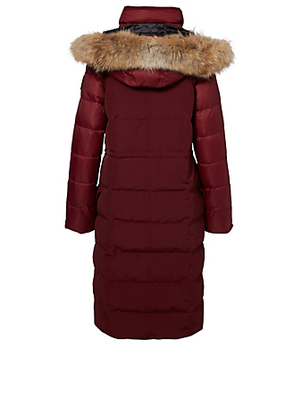 CANADA GOOSE Lunenberg Black Label Down Parka With Fur Womens Red