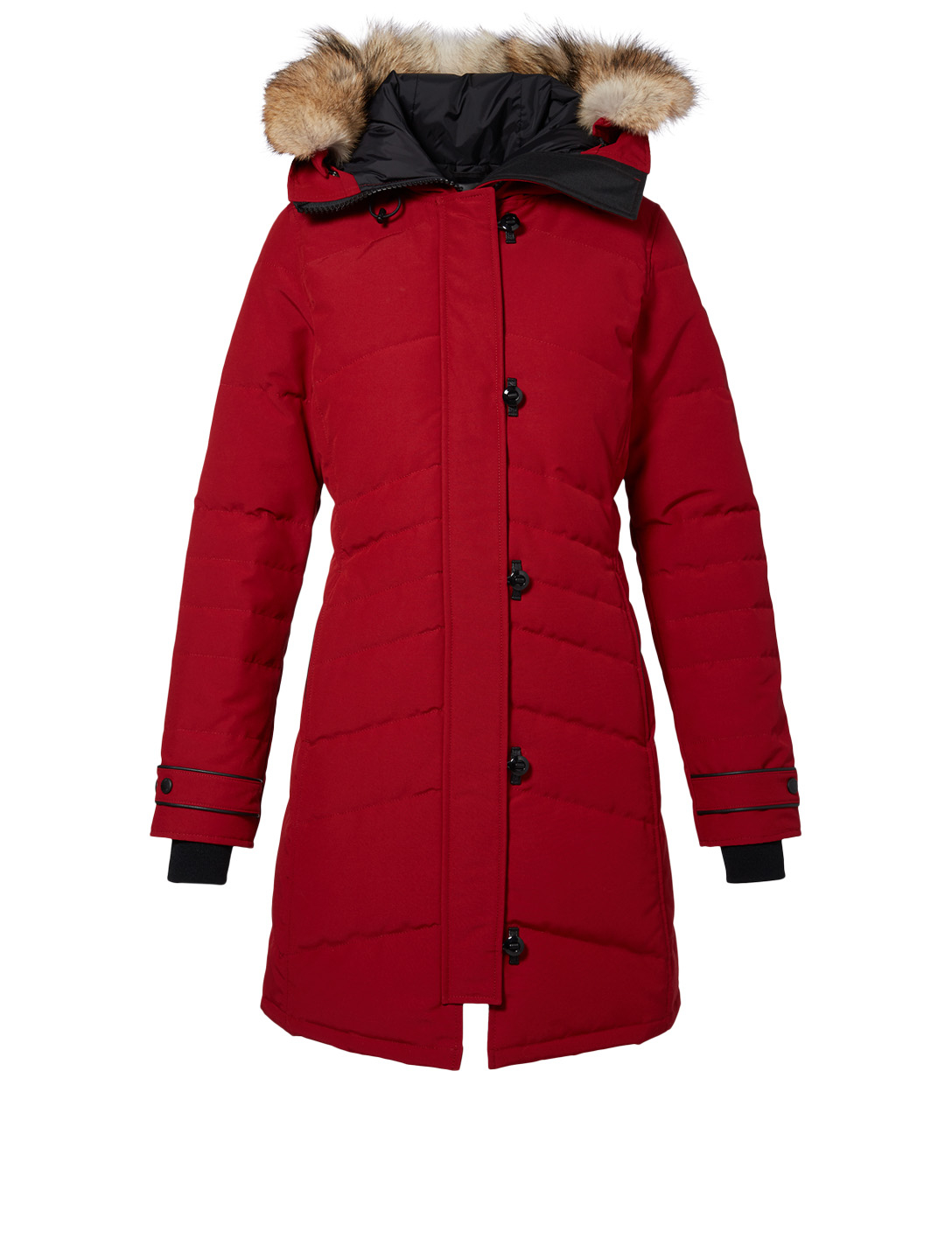 CANADA GOOSE Lorette Down Parka With Fur Womens Red
