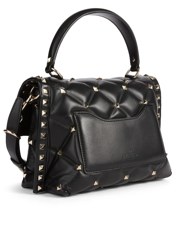 8eaab2c8651 ... VALENTINO GARAVANI Mini VLTN Candystud Leather Top Handle Bag Women's  Black