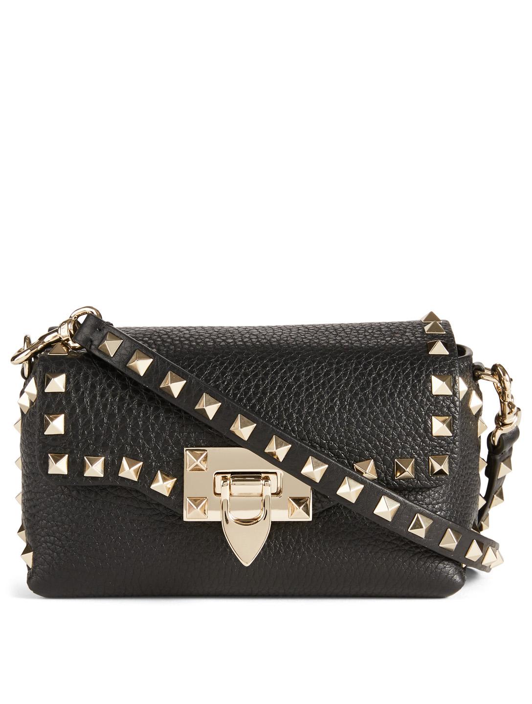 99640201bab VALENTINO GARAVANI Mini Rockstud Leather Crossbody Bag