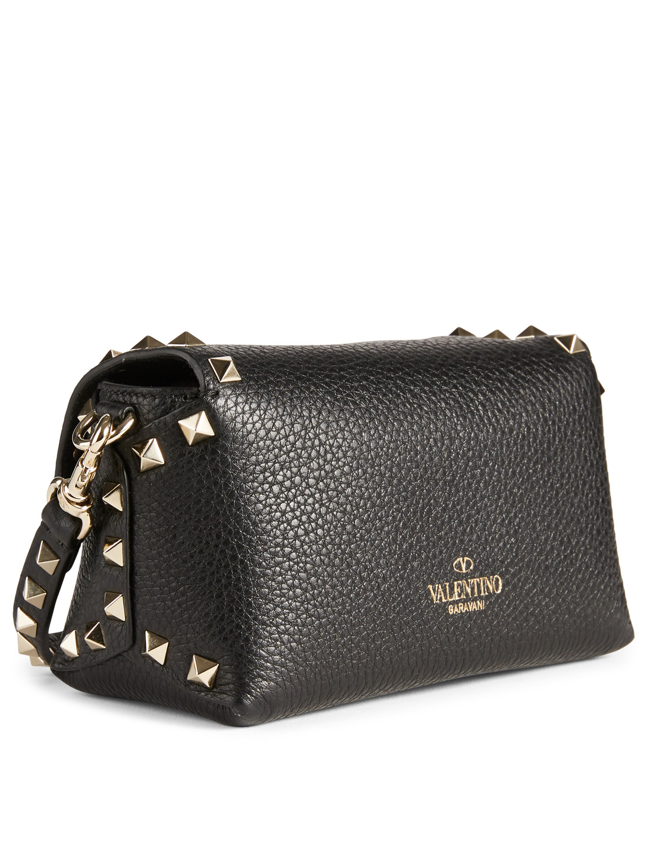 a2e9d5a72918 ... VALENTINO GARAVANI Mini Rockstud Leather Crossbody Bag Designers Black  ...