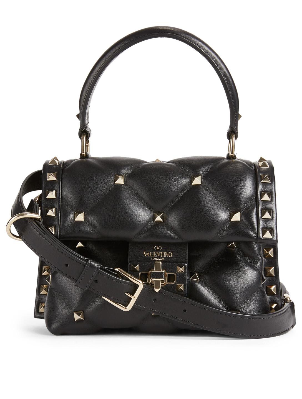 fe3b5008e5c VALENTINO GARAVANI Mini Candystud Leather Top Handle Bag | Holt Renfrew