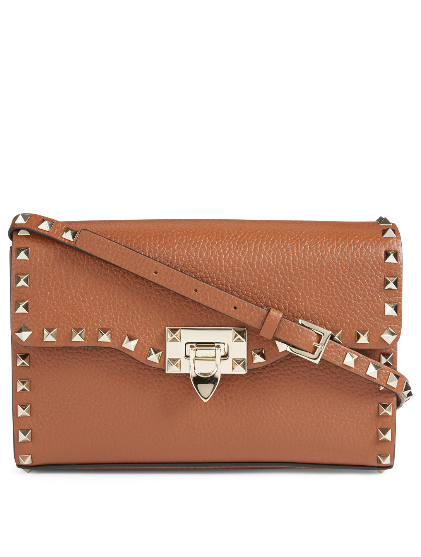 30feff0b50e4 VALENTINO GARAVANI Medium Rockstud Leather Crossbody Bag