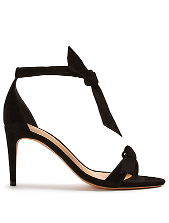 ALEXANDRE BIRMAN Patty Suede Heeled Sandals Womens Black