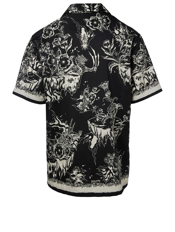 71b9cfb6 ... GIVENCHY Short-Sleeve Hawaiian Shirt In Monster Print Men's Black
