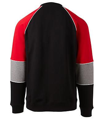 GIVENCHY Colourblock Logo Sweatshirt With Topstitching Men's Multi