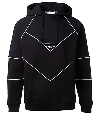 GIVENCHY Logo Hoodie With Topstitching Men's Black