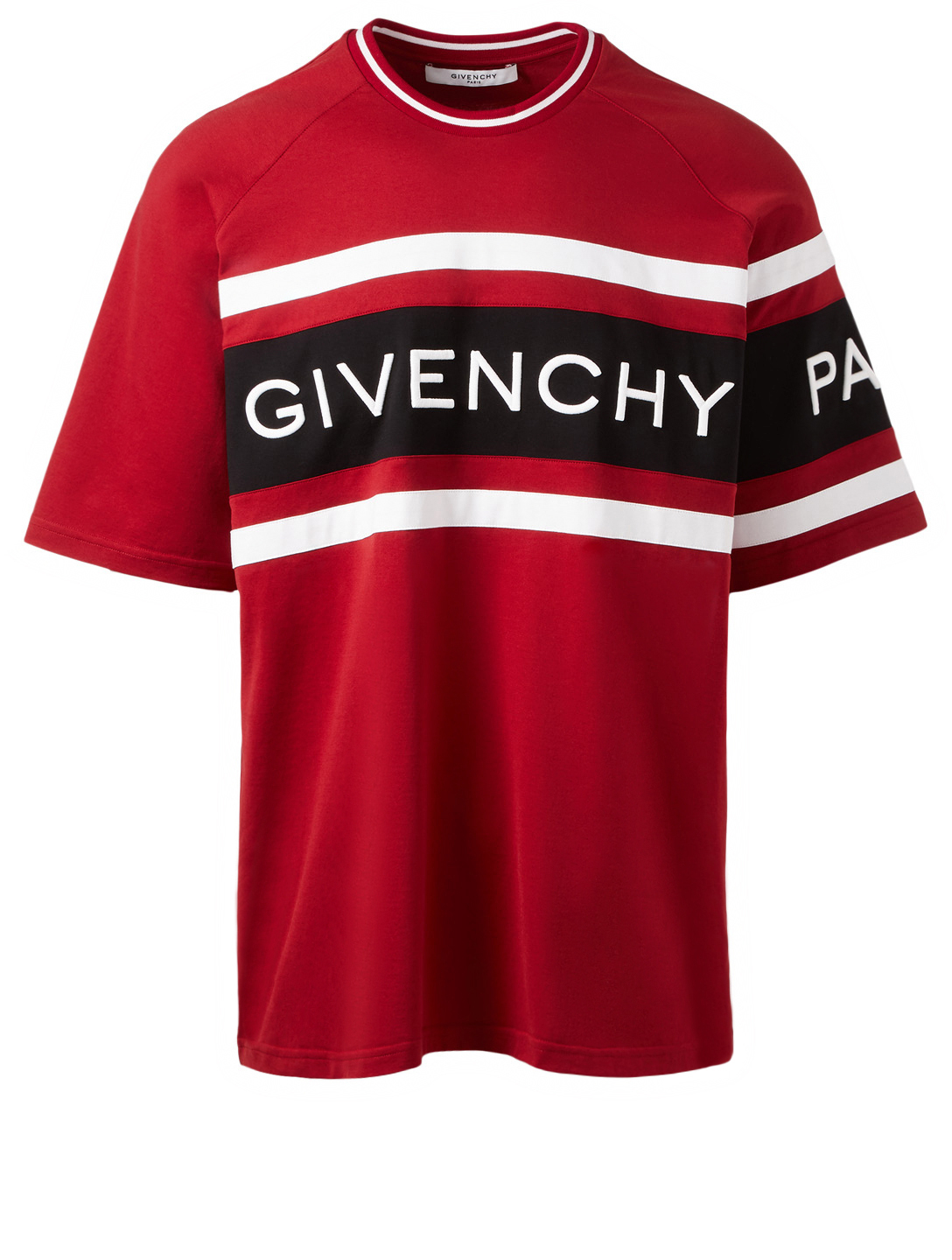 GIVENCHY Oversized Logo T-Shirt Men's Red