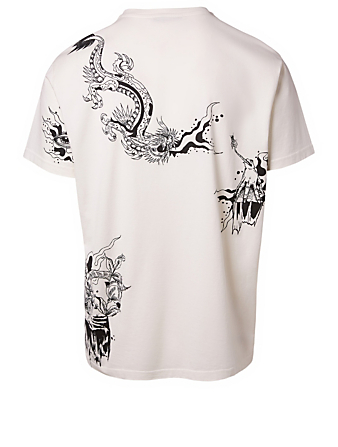 GIVENCHY Monsters Graphic T-Shirt Men's White