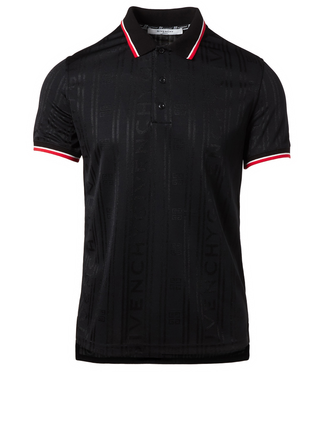 GIVENCHY Short Sleeve Polo Shirt Men's Black