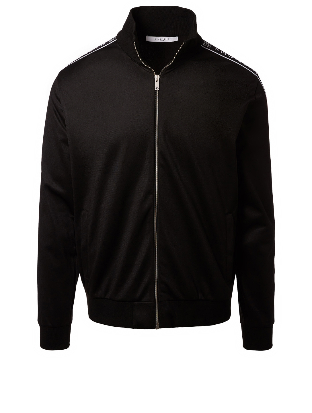 0f08c663e GIVENCHY Track Jacket With Logo Stripe Men s Black ...