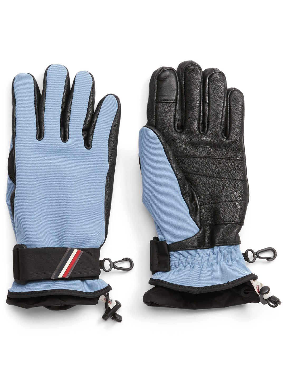 d9e7b75a9 MONCLER 3 Moncler Grenoble Coated Twill And Leather Gloves
