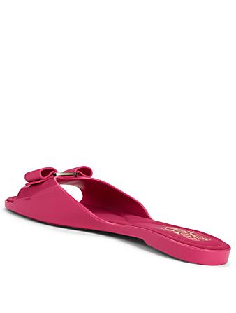 f6ef60e67dad ... SALVATORE FERRAGAMO Cirella Jelly Slide Sandals With Vara Bow Women s  Pink ...