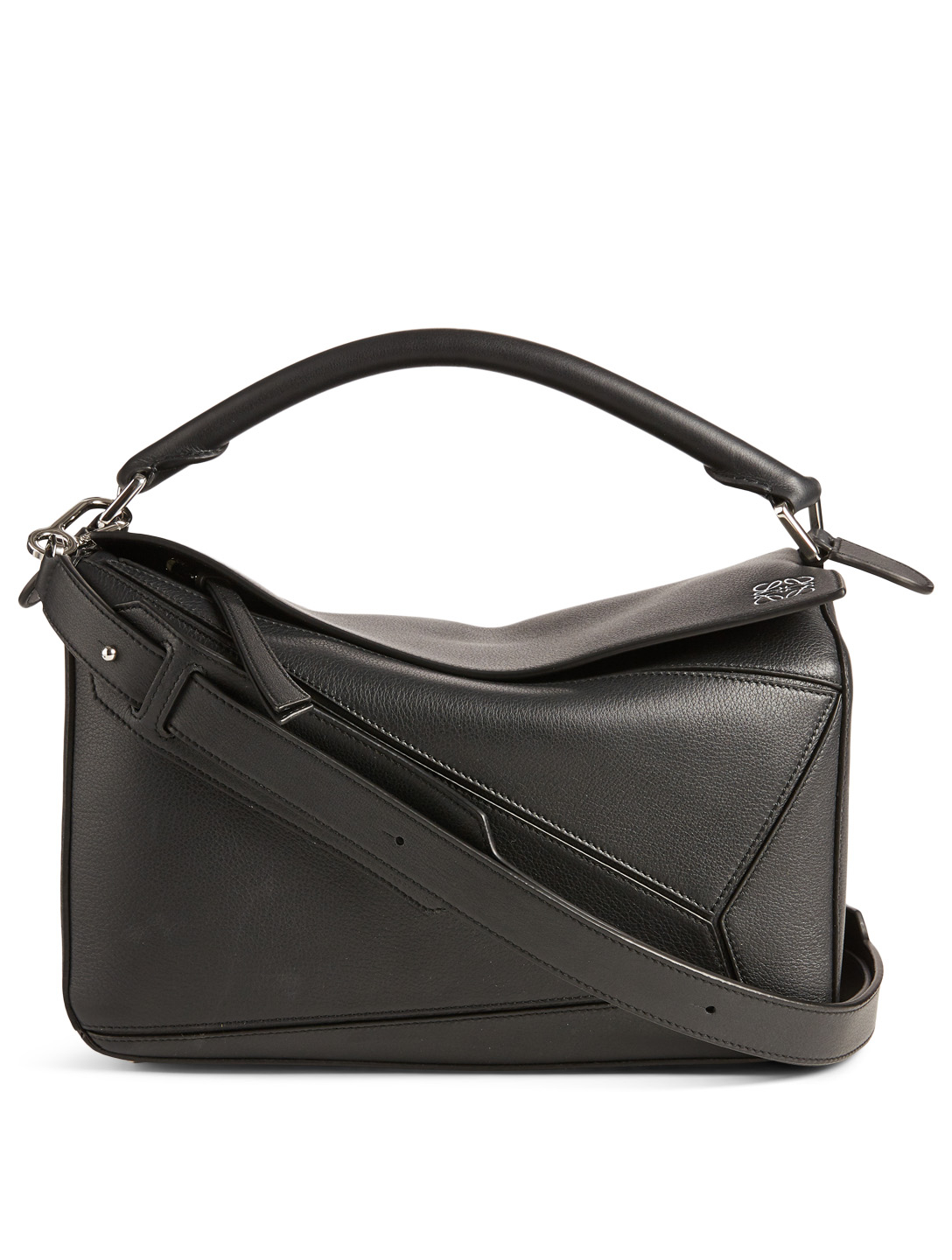 LOEWE Puzzle Leather Bag Women's Black