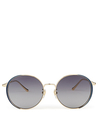 GUCCI Oversized Round Sunglasses Womens Blue