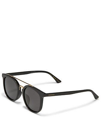 GUCCI Round Sunglasses Men's Black