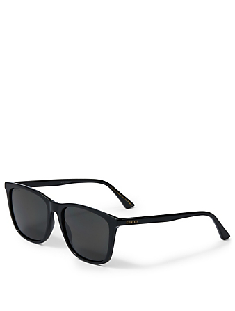 GUCCI Rectangular Sunglasses Men's Black