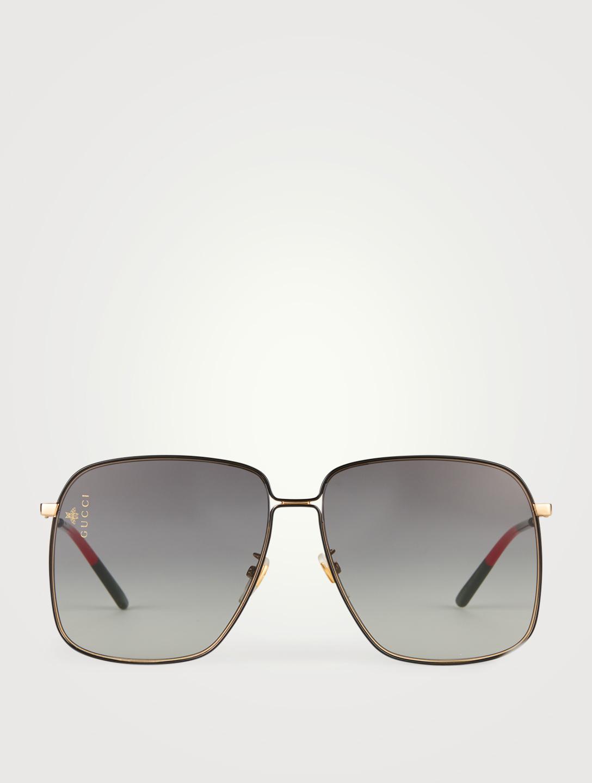 03d63fe1f1 GUCCI Oversized Square Sunglasses Women s Black ...