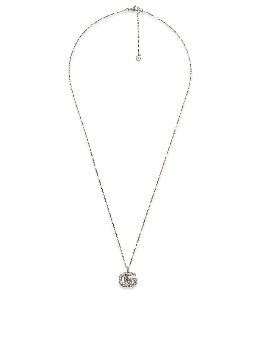 0de006d3c34dd GUCCI GG Running 18K White Gold Pendant Necklace | Holt Renfrew