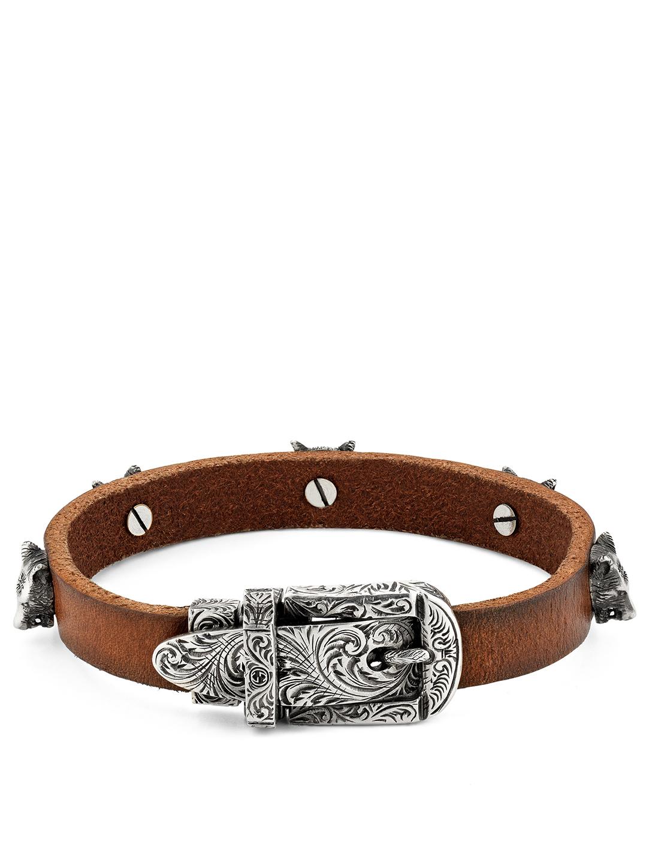 6c435664aaa3e GUCCI Anger Forest Leather Bracelet | Holt Renfrew