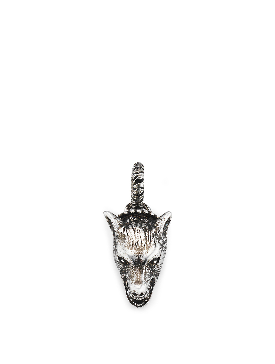 02a048fc76583 GUCCI Anger Forest Sterling Silver Wolf Head Charm