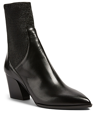 PIERRE HARDY Rodeo Leather Heeled Ankle Boots Women's Black