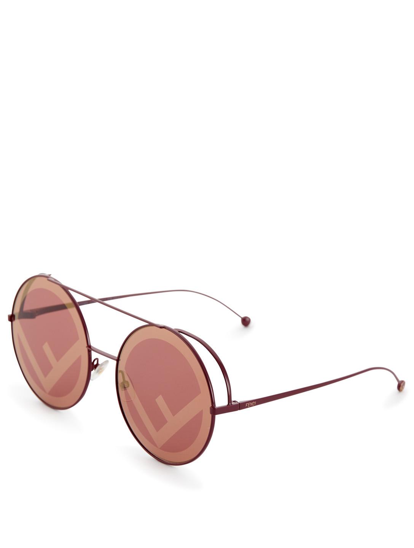 0105e3ead926 ... FENDI Run Away Round Sunglasses Women s Red