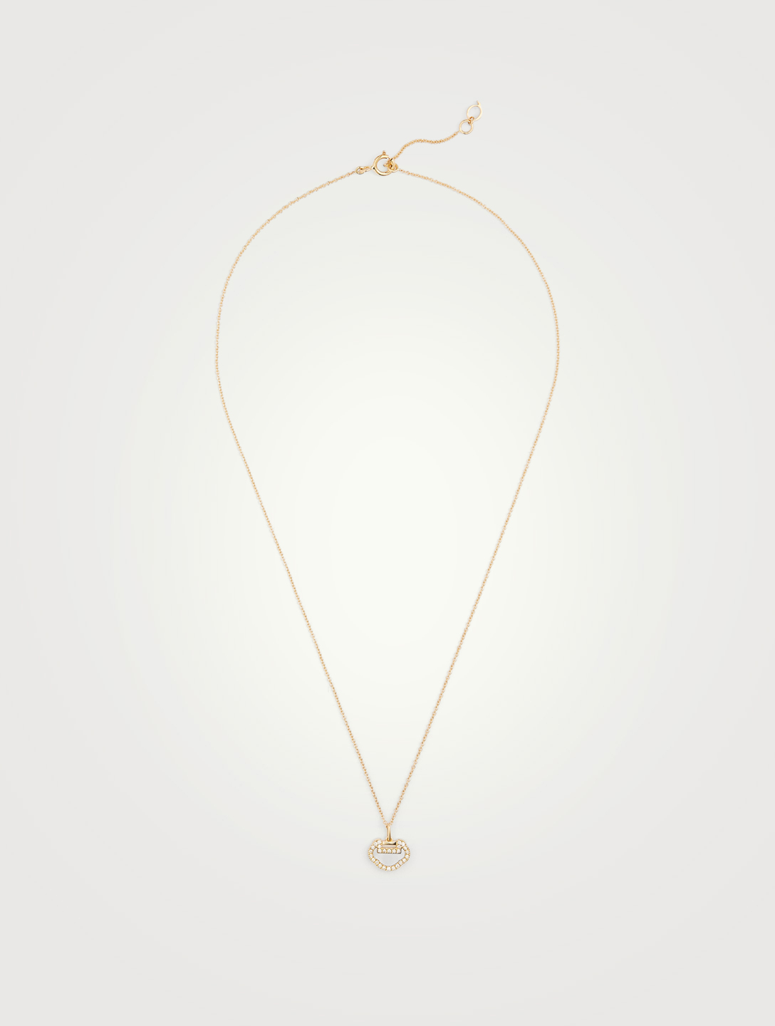 QEELIN Petite Yu Yi 18K Gold Necklace With Diamonds And Mother Of Pearl Women's Gold