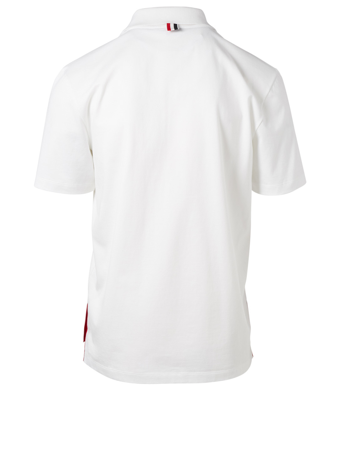 THOM BROWNE Polo Shirt With Stripe Detail Men's White