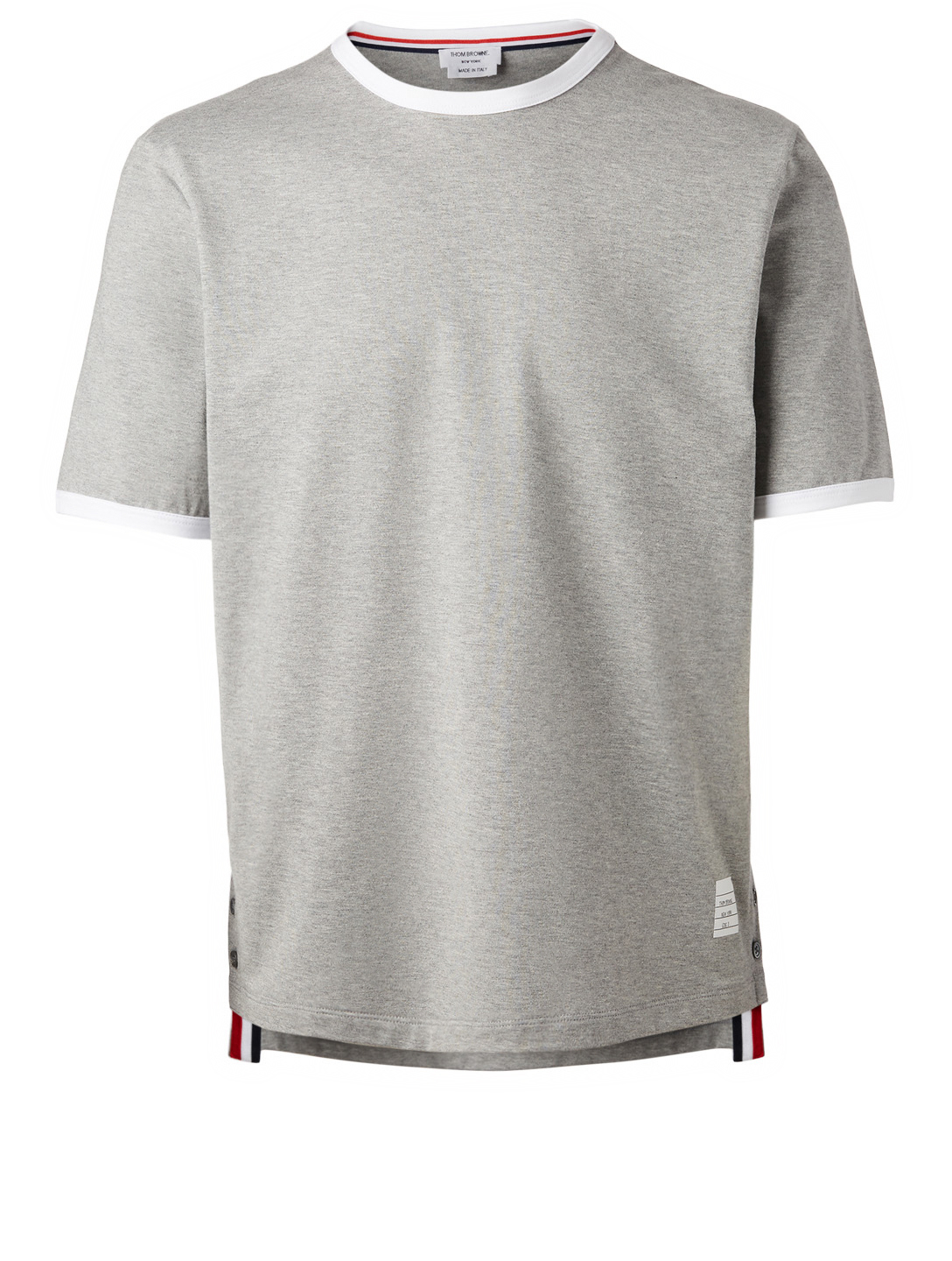 THOM BROWNE Ringer T-Shirt Men's Grey