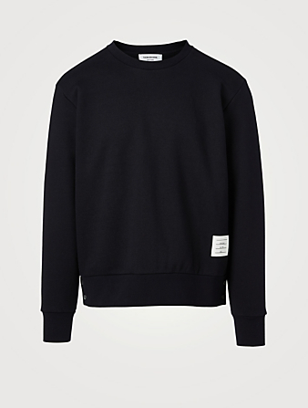 THOM BROWNE Cotton Sweatshirt With Back Stripe Men's Blue