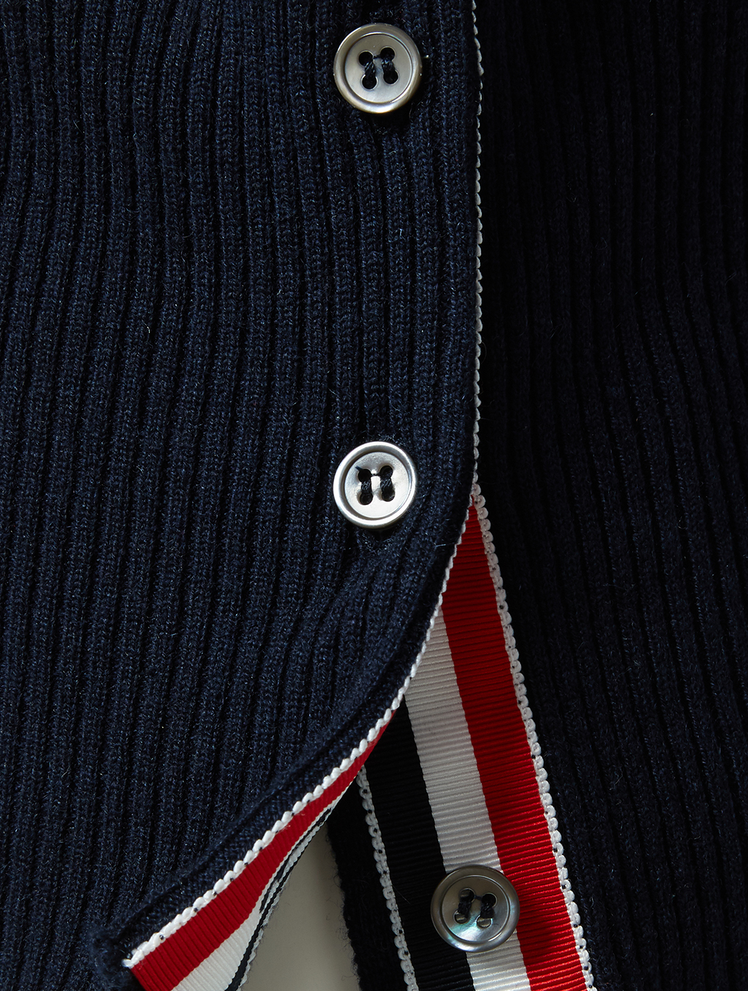 THOM BROWNE Four Bar Cashmere Poolside Intarsia Sweater Men's Blue