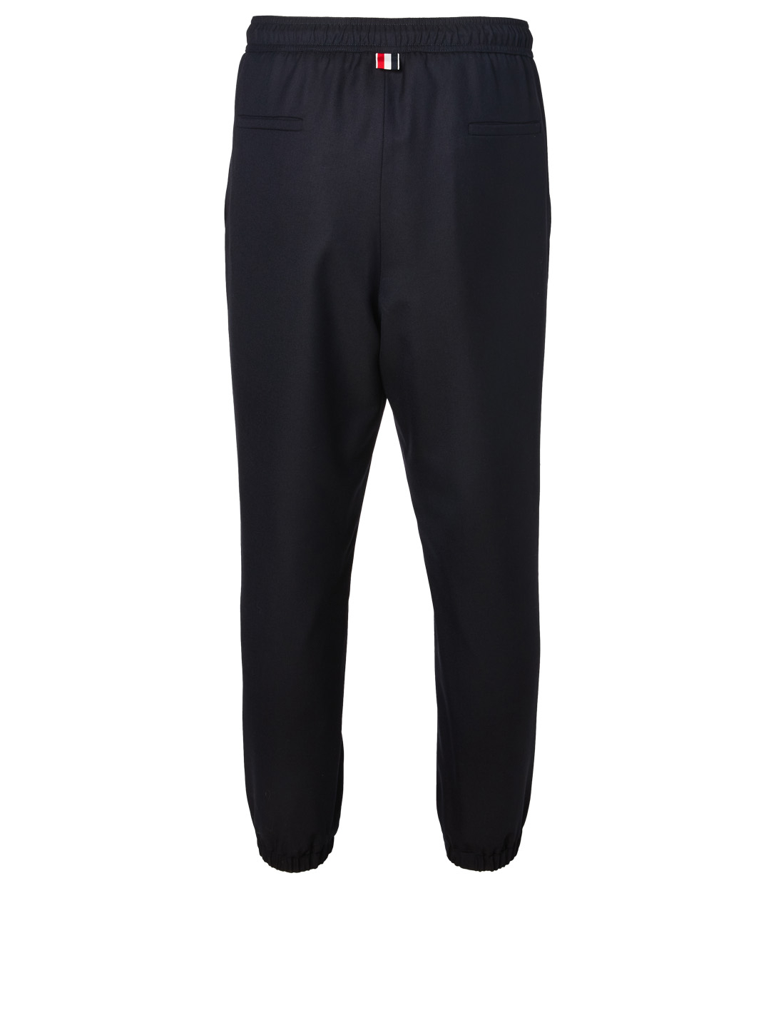THOM BROWNE Wool Twill Track Pants Men's Blue