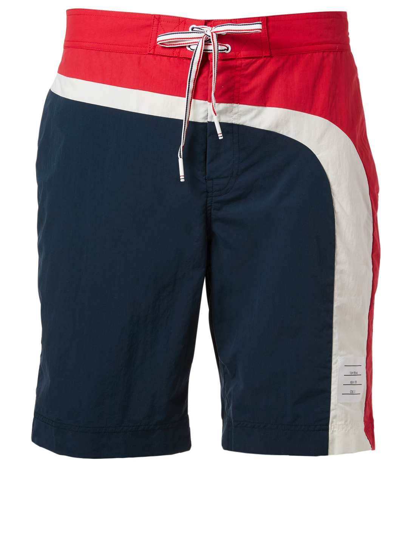 73263dc72d882 THOM BROWNE Colourblock Nylon Swim Shorts | Holt Renfrew