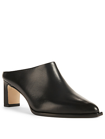 ATP ATELIER Fave Leather Mules Womens Black