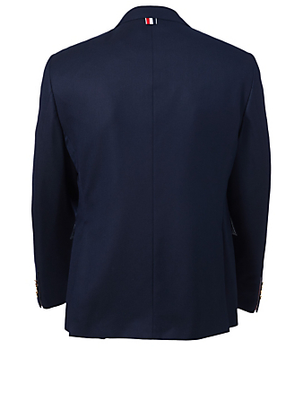 THOM BROWNE Super 120s Wool Blazer Men's Blue