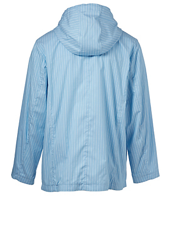 THOM BROWNE Swim Shell Jacket In Pinstripe Men's Blue