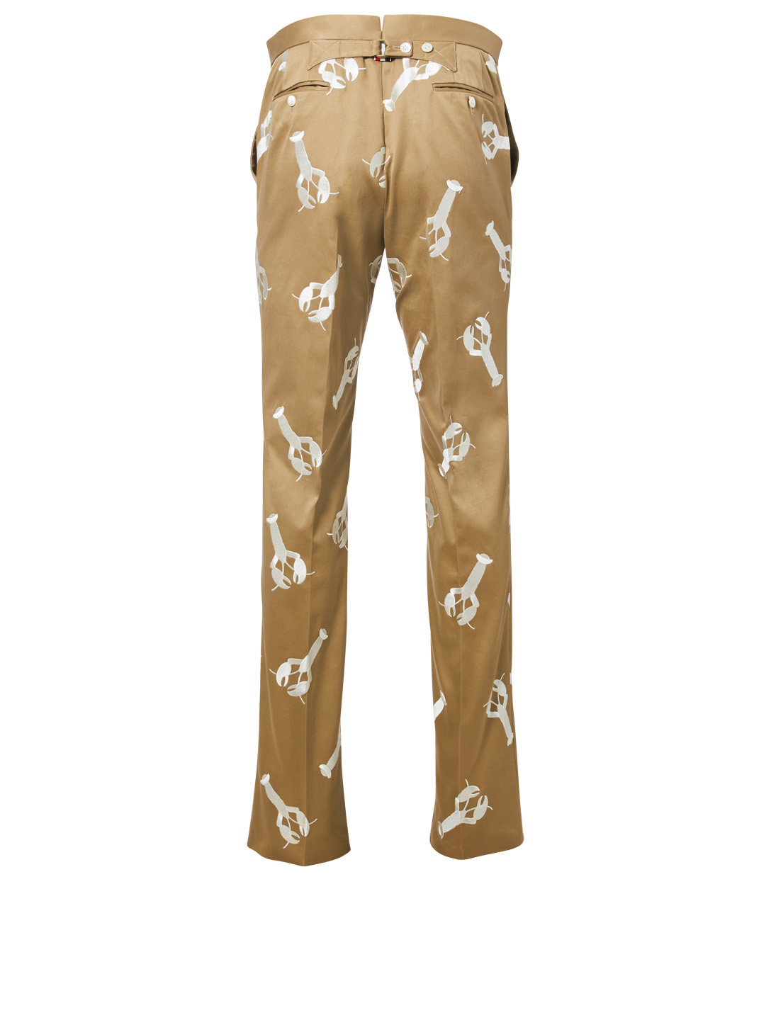 THOM BROWNE Embroidered Lobster Chino Pants Men's Neutral