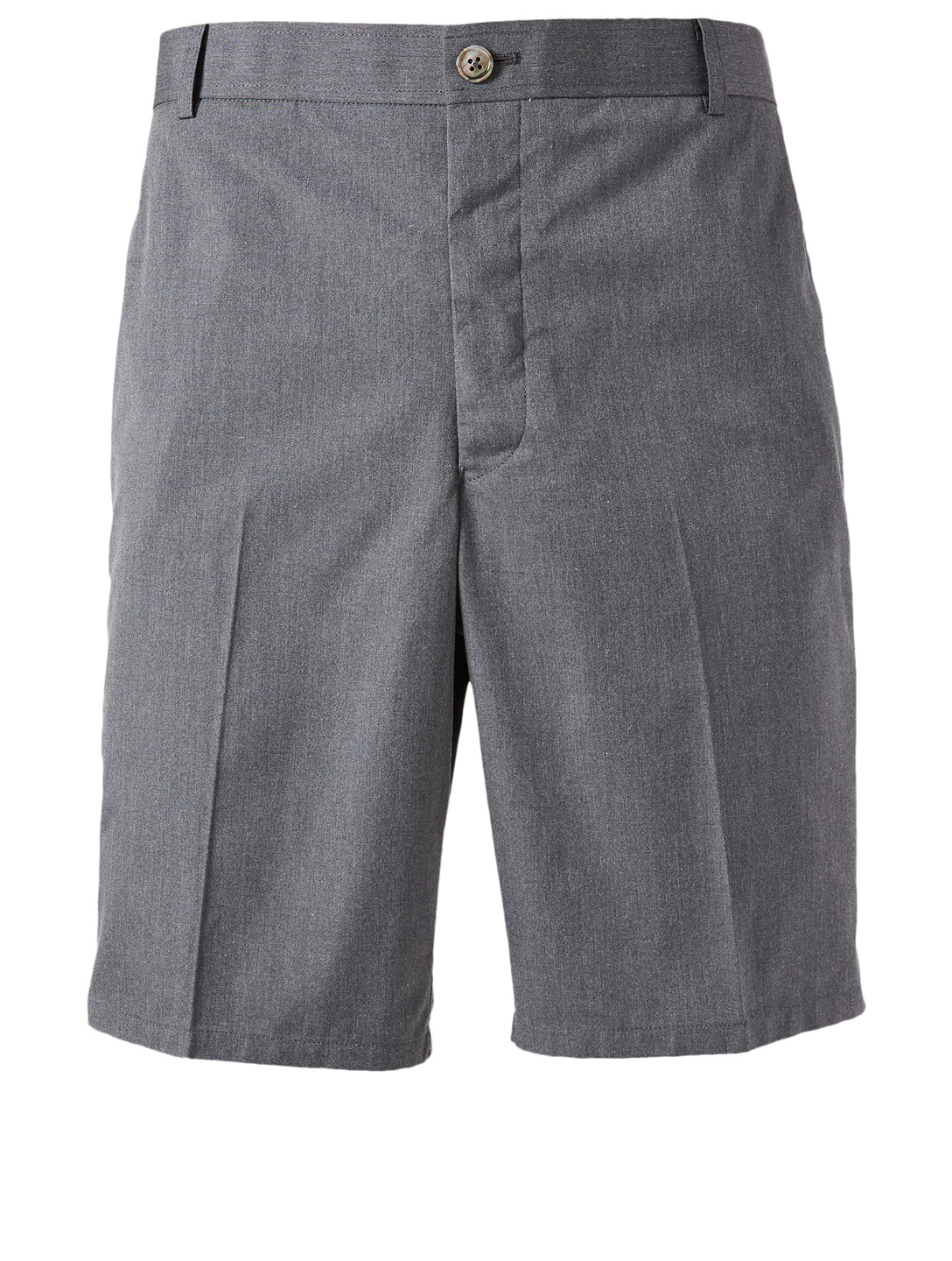 THOM BROWNE Unconstructed Wool Shorts With Side Stripe Men's Grey